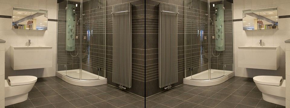 Regio Venlo en Roermond. Deze moderne badkamer te zien in Reuver ...
