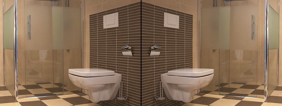 Warme aardetinten in deze Limburgse badkamer te zien tussen Roermond ...
